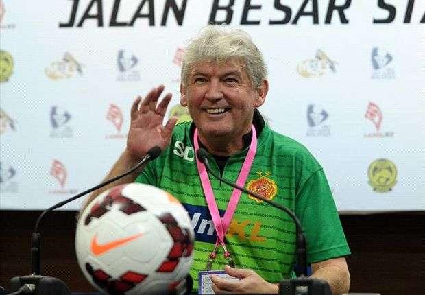 The Englishman during happier times at Kelantan FA