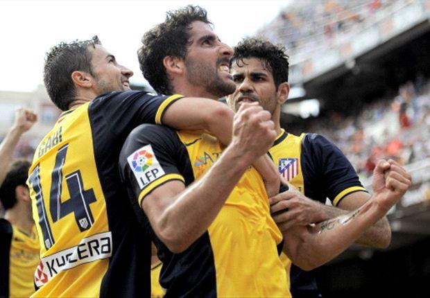 Valencia 0-1 Atletico Madrid: Garcia edges 10-man Rojiblancos closer to La Liga glory