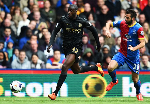 Yaya Toure powers title pendulum back in Manchester City's favour