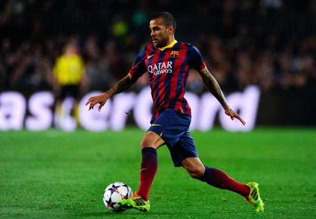 Dani Alves: My Barcelona future not in my hands