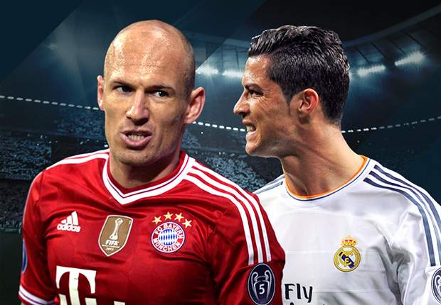 Ronaldo, Messi, Robben - who will win the 2013-14 Goal 50?