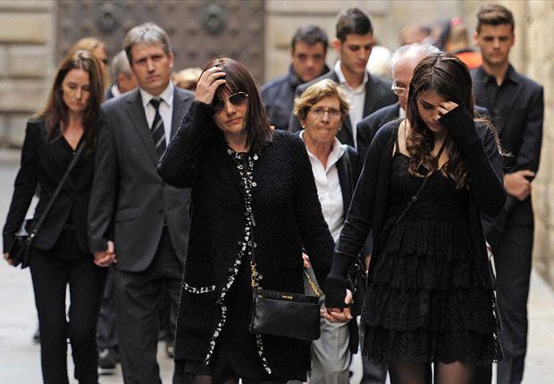 La familia de Vilanova en el funeral por Tito