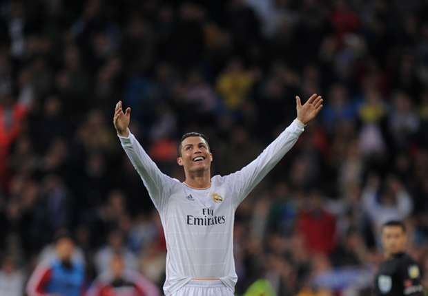Cristiano Ronaldo celebrates against Osasuna