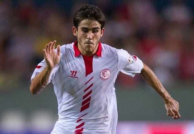 Jairo en un partido con el Sevilla