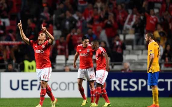 Lima celebrates his goal against Juventus