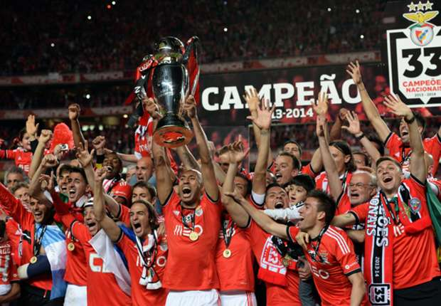 Primeira Liga champions Benfica