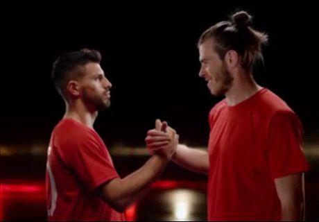 Bale responde a las preguntas de Agüero