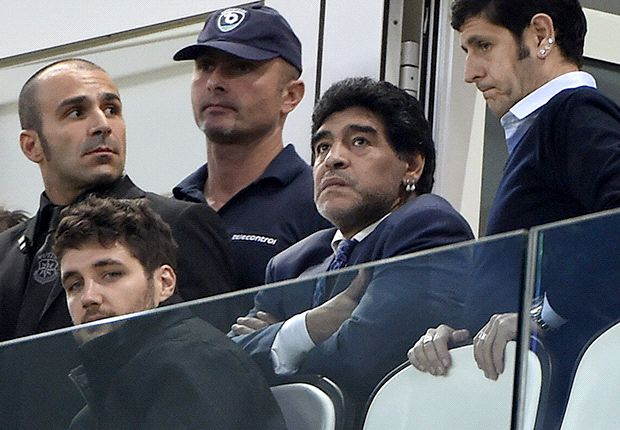 El Diego, en un gran momento físico