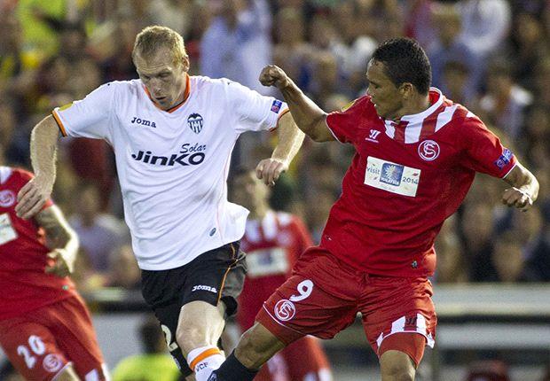 Valencia 3-1 Sevilla (Agg 3-3): Mbia stoppage-time strike stuns Mestalla