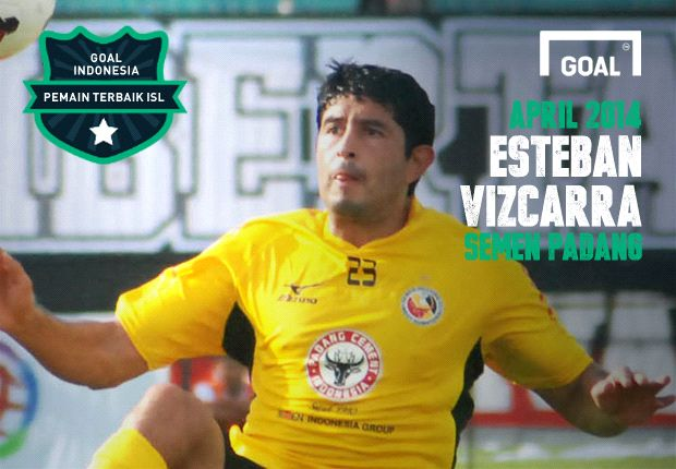 Esteban Vizcarra pemain terbaik ISL periode April 2014.