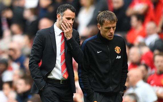 Ryan Giggs Phil Neville Manchester United Sunderland Premier League 05032014