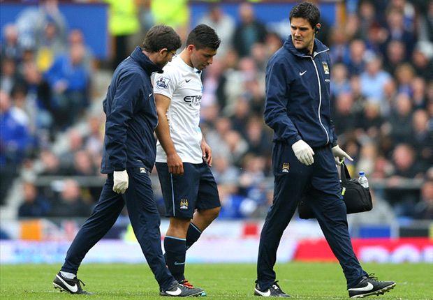 Aguero to miss Manchester City's clash with Aston Villa