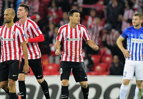 Five-star Aduriz downs brave Belgians