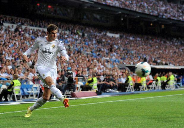 Bale durante el partido de ayer contra el Valencia