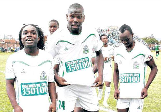 Gor Mahia players in a past Kenyan Premier League match.