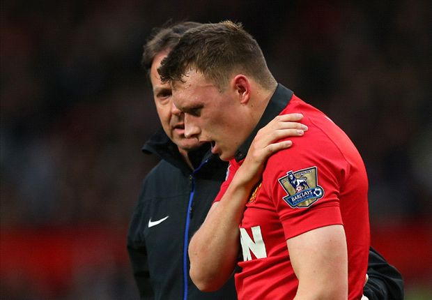 Phil Jones taken to hospital with shoulder injury