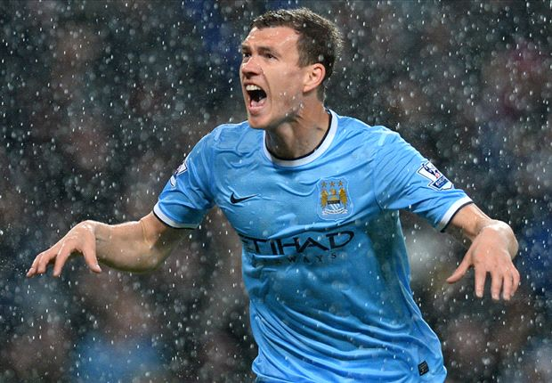 Edin for glory: Dzeko comes to Manchester City rescue
