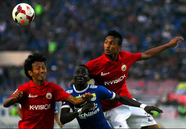 Laga Persib-Persija tersaji di Stadion Si Jalak Harupat, petang ini.