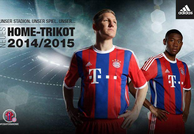 Der FC Bayern München bestreitet die Saison 2014/2015 mit neuen Trikots