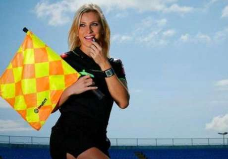 Uliana flying flag for female officials