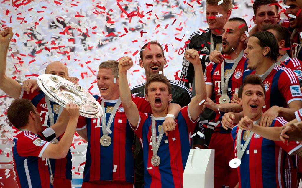 Bayerns Meisterfeier im Video