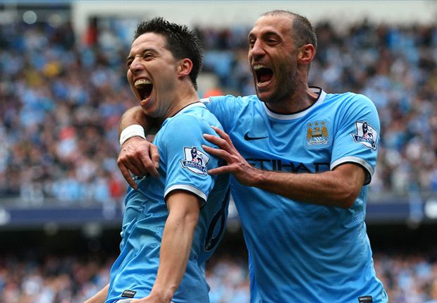 Manchester City 2–0 West Ham: Nasri & Kompany secure Premier League title