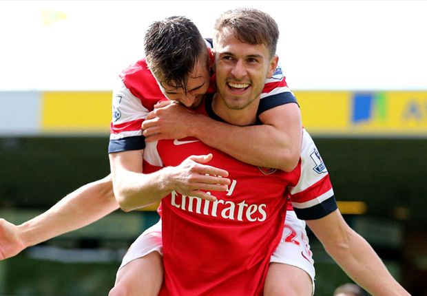 Norwich 0-2 Arsenal: Ramsey nets stunner as Canaries suffer relegation