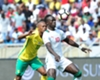 Thulani Serero of Bafana and Sadio Mane of Senegal