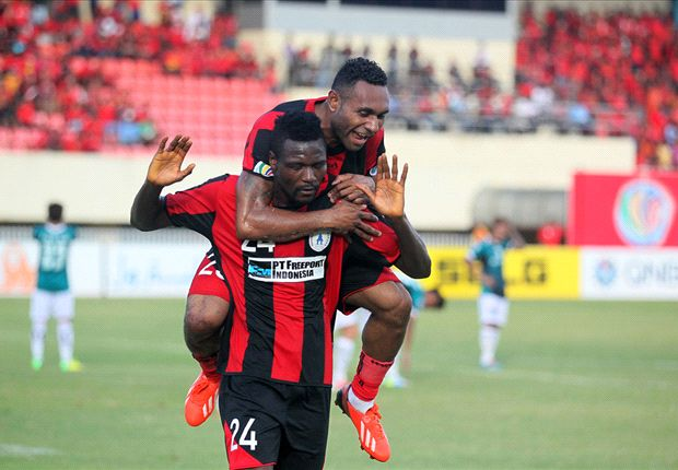 Persipura striker Eddie Foday Boakay struck five times in an astonishing win.