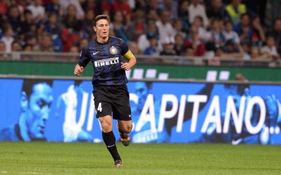 Inter defender Javier Zanetti
