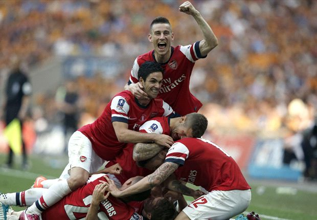 Arsenal stars celebrate FA Cup win with Walcott FaceTime call