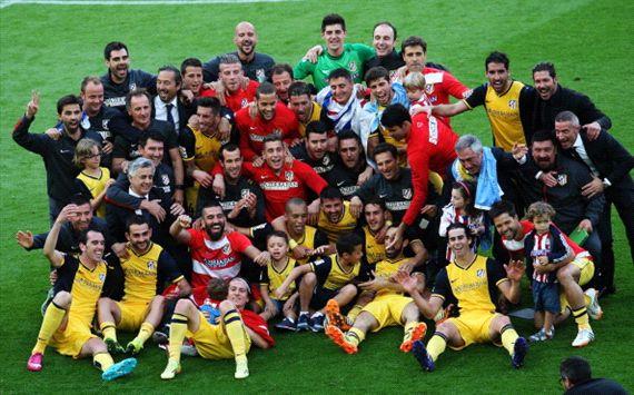 Atletico squad celebrate
