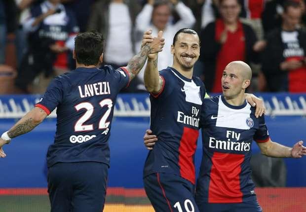 Paris Saint-Germain striker Zlatan Ibrahimovic