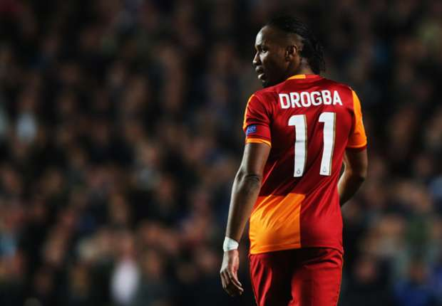 Didier Drogba playing for Galatasaray