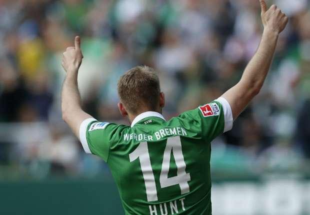 Bleibt die Nummer 14 im Weserstadion? Aaron Hunt
