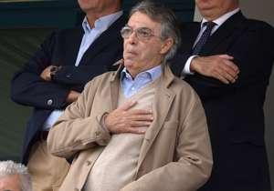 L'ex presidente dell'Inter, Massimo Moratti