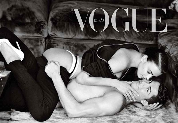 Ronaldo bares all in Vogue photoshoot
