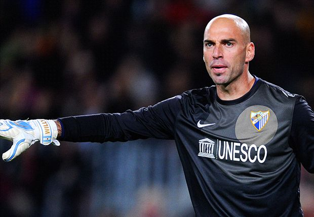 Willy Caballero, con un pie afuera de Málaga