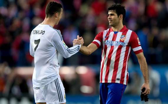 Cristiano Ronaldo and Diego Costa.