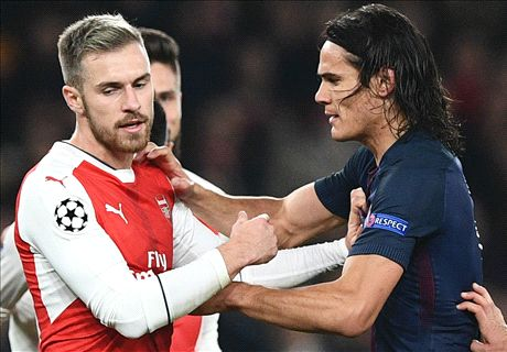 WATCH: Cavani takes swing at Ramsey!