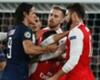 Giroud grabs Cavani round the neck