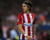 Filipe Luis back in training with Atletico