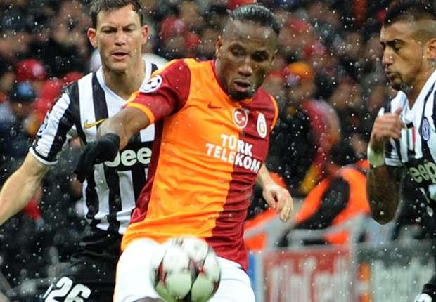 Drogba en partido ante la Juventus, esta temporada por Liga de Campeones
