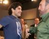 Diego despidió a Fidel en Cuba
