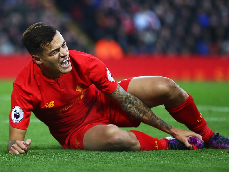 Liverpool, Coutinho indisponible jusqu'en janvier