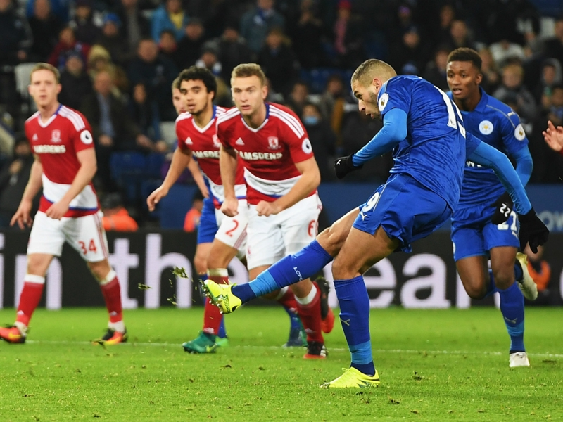 Leicester City 2-2 Middlesbrough: Slimani penalty rescues Foxes