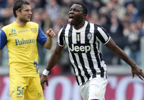 Juventus, Asamoah blessé, manquera la CAN