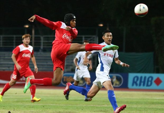 Fazrul Nawaz is the leading local-born scorer in the S.League this season.
