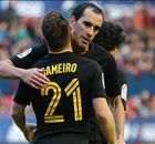 Godin stars in comfortable Atletico win