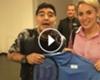 ► Delpo le regaló su raqueta a Diego
